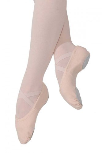 Roch Valley STRETCH CANVAS Ballet Shoes Split Suede Sole Pink Fitted X-Elastics